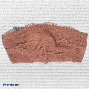Free People Camila Bandeau Vintage Rose lace M